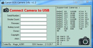 canon EOS camera info